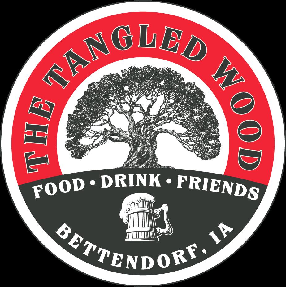 The Tangled Wood badge logo.