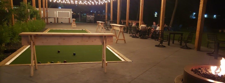 Bocce Ball at Night
